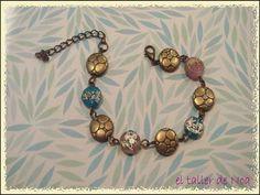 #pulsera #retro #vintage #cristal murano #bolas P/V 15 Col. Bracelet Doré Ref. bdop15018 Compras www.eltallerdenoa.com  Consultas info@eltallerdenoa.com