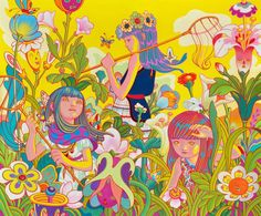 Famed Taiwanese American artist James Jean's recent & most celebrated works & artbooks images Art And Illustration, Illustrations, Superflat, James Jeans, Psychedelic Art, Commercial Art, Arte Pop, American Comics, Fine Art Gallery