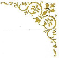 Lovely Wandschablonen Schablone Wandtattoo Ornament Ecke