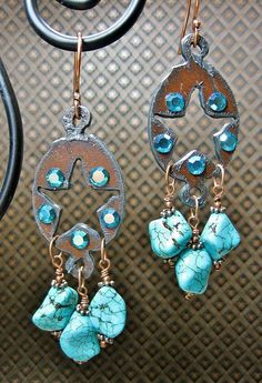 RUSTIC Turquoise Stars Gypsy Cowgirl by CayaCowgirlCreations, $20.00