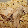 Ingrédients pour 4 personnes4 ww 4 filets de poulet coupé en aiguillette 2 cas de moutarde du fond de veau 1 oignon émincé 1...