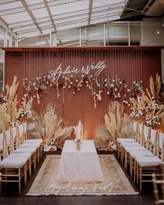 Prepare to feast your eyes on & earthy tone backdrop panels combined with an our incredible autumnal hanging… Wedding Backdrop Design, Wedding Stage Design, Rustic Wedding Backdrops, Wedding Decorations On A Budget, Engagement Decorations, Backdrop Decorations, Wedding Mood Board, Wedding Background, Wedding Places