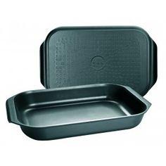 Braadslede Duo 40x26 cm € 59,95 Braadslede Duo 40x26 cm  Deze braadslede van Ibili gebruik je voor het braden van vlees, vis en groenten. Je kunt de braadslede zowel in de oven als op het fornuis gebruiken. Zo kun je vlees of vis eerst braden op het fornuis om het vervolgens verder te laten garen in de oven. De braadslede is gemaakt van gietaluminium (dikte 5 mm) en voorzien van een dubbele antiaanbaklaag die aanbakken en vastplakken voorkomt, en bovendien zorgt dat je vetarm kunt braden.