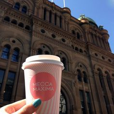 """Coffee and the new @meccamaxima store – the perfect way to start the weekend! Join them on Ground Floor for all your beauty favourites. #meccabeautyjunkie #qvb #beauty #meccamaxima #makeup"" Photo taken by @theqvb on Instagram."