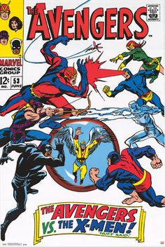 A great poster of an incredible Marvel Comics match-up - The Avengers vs The X-men! The Avengers #53 classic cover art by John Buscema. Fully licensed. Ships fast. 24x36 inches. Check out the rest of