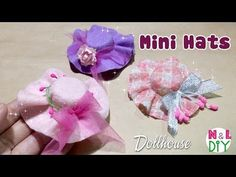 DIY Miniature Hat for Dollhouse | How to make a Mini Hat - YouTube