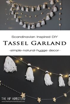 Tassel garlands are such a huge trend right now and the best part? They are so cheap and easy to make! Here is my tutorial on How o Make The Easiest DIY Tassel Garland Ever. Diy Tassel Garland, Beaded Garland, Tassels, Garlands, Garland Decoration, Clever Diy, Easy Diy, Diy Girlande, Boho Diy