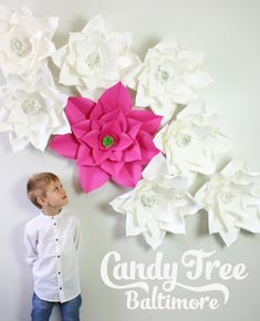Paper Flower Backdrop / Giant Paper Flowers by CandyTreeBaltimore