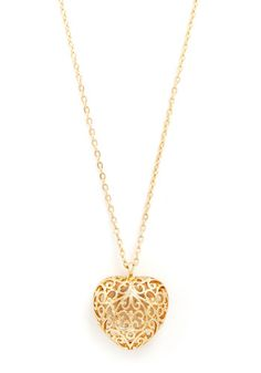 Infinite Love Necklace - Gold, Solid, Cutout, Novelty Print, Gold, Top Rated