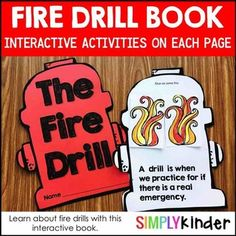 Fire Safety - Fire Drill Book for Kindergarten and First Grade Teach your kids all about fire drills with this fun interactive. Students will learn all about the ins and outs of having a fire drill! Interactive Activities, Literacy Activities, Interactive Notebooks, First Grade Classroom, Classroom Rules, School Resources, Teaching Resources, Everything Preschool, Pumpkin Life Cycle