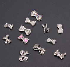 12 pz fiocchi per unghie gioiello e nail art
