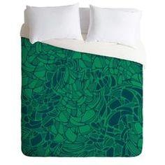 Karen Harris Carillon Peacock Emerald Duvet Cover | DENY Designs Home Accessories