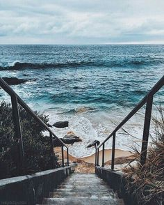 down by the sea - nature | coast - ocean - coastal - stairs - beach - beaches - water - waves - horizon - wild - nature - wilderness - beautiful - wanderlust - aesthetic - trip - travel - bucket list - discover places - photography - idea - ideas - inspiration