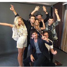 #TVD The Vampire Diaries  Candice Accola(Caroline),Paul Wesley(Stefan),Kat Graham(Bonnie),Matthew Davis(Alaric),Zach Roerig(Matt),Ian Somerhalder(Damon), & Michael Malarkey(Enzo)