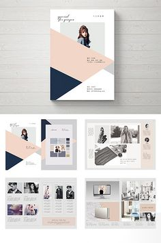 The entire European and American style fashion Brochure design Graphic Design Layouts, Graphic Design Posters, Brochure Design, Layout Design, Best Design Magazines, Typographic Design, Business Brochure, Magazine Design, Business Fashion