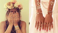 flash tattoos, tatuajes temporales de joyas, tendencias verano