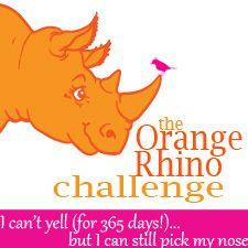 Princess and The Rock: Orange Rhino? Make that Prune-Pink Rhino!