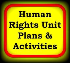 Human Rights Unit Plans & Activities $