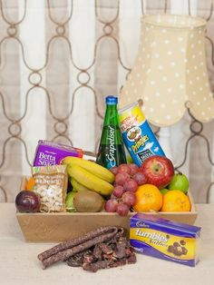 South Africa Snack & Gift Hampers for all occasions. Whether you are looking for luxury or budget, our flower shops have what you are looking for. Biltong, Toblerone, Gift Hampers, Gift Delivery, Lunch Box, Snacks, Chocolate, Fruit, Flowers