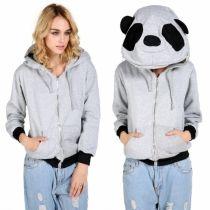 Fashion Women's Panda Hoodie Outerwear Jacket Sweatshirt