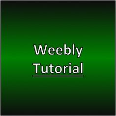 Weebly Tutorial #weebly #makemoneywithwebsites