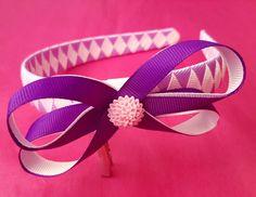 Purple boutique bow alice band 😊