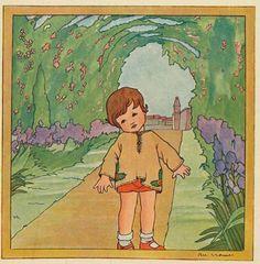 Rie Cramer Kindertjes uit zonneland 1929ill in  t tuintje
