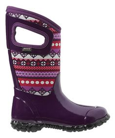 Purple Pattern Stripes North Hampton Boot - Kids