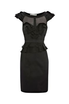 Falbala Detailed Black Shift Dress Dark Desire Wedding inspo | Big Fashion Show black shift dress
