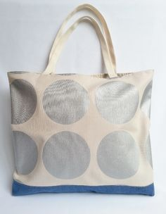 Silver Spot Tote Bag Craft Stalls, Handmade Accessories, Burlap, Reusable Tote Bags, Silver, Crafts, Craft Booths, Hessian Fabric, Manualidades