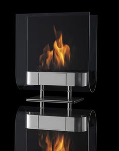 Fresh Decor: Elegant Portable Ethanol Fueled Fireplace by Ilkka Suppanen