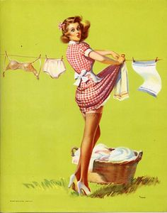 Vintage laundry pin-up.