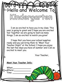 Student Welcome Letter (Worm Version) Back to School Letter (can be edited) - Modern Student Welcome Letters, Welcome Students, Welcome To Kindergarten, Welcome To School, Teacher Newsletter, Worms, Back To School, Lettering, Teaching