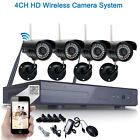 4pcs HD 720P WIFI Wireless IP Camera System 4CH NVR Outdoor Security Home Video