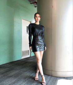 Filipina Actress, Savage, Style Icons, Beautiful People, Leather Skirt, Actresses, Pretty, Model, Fashion