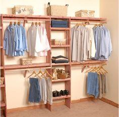 Northern Kentucky Cedar - Deluxe Solid Wall Closet Organization Kit 10'