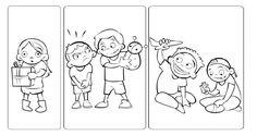 LOS SENTIMIENTOS         II PARTE: (Semana 2)            Con estas ficha y dibujos analizaremos situaciones y sentimientos. Los niños ...