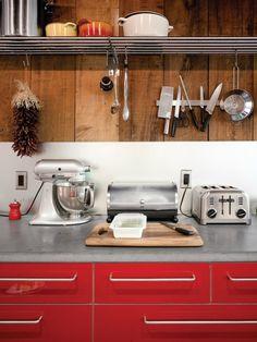 kitchen - mix of materials