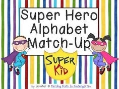 This is a fun pocket chart or work station activity! Included are upper case and lower case letter cards, along with a picture card for each letter sound. Students can match upper case to lower case, letter to sound or match-up all 3! These super hero kids will go great with a unit on personal strengths unit or with a Super Hero  themed classroom!