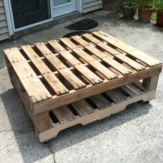 Pallet table my dad helped me make!