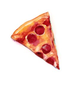 how to draw pizza slice