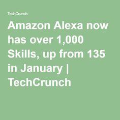 Amazon Alexa now has over 1,000 Skills, up from 135 in January | TechCrunch Alexa Dot, Alexa Echo, Alexa Tricks, New Tricks, Amazon Dot, Amazon Echo, Echo Dot Skills, Alexa Commands, Echo Speaker