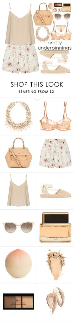 """""""Pretty Underpinnings!"""" by nvoyce ❤ liked on Polyvore featuring Eres, Tory Burch, Haute Hippie, Raey, Soludos, Chopard, Givenchy, Tony Moly, NYX and STELLA McCARTNEY"""