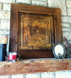 Love this rustic shelf and picture...I wish I can find where to buy one