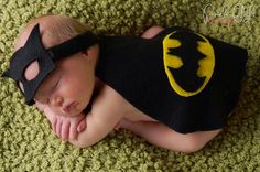 Newborn Baby Batman Photo Prop - Halloween Superhero Costume