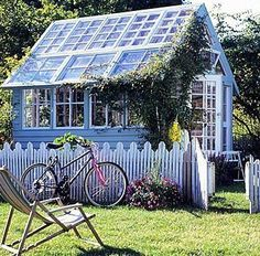 blue ~Garden Shed...or a place of peace & seclusion~