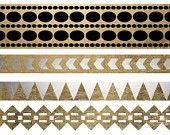 Metallic Tat, MetallicTat, Gold Tattoo, Jewelry Tattoo, Silver Tattoo, Tribal Tattoo, Bracelet Tattoo, Gold Jewelry, Metallic Tattoo Armband...