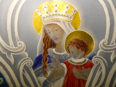 """Queen of Heaven, Prince of Peace""  Cartouche by RavenWing HUghes"