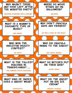 Enjoy your Halloween with these fun filled, humorous Halloween Lunch Box Jokes. here are 21 Hilarious Halloween Lunch Box Jokes For Kids! Halloween Tags, Funny Halloween Jokes, Funny Jokes For Kids, Halloween Party Games, Halloween Activities, Holidays Halloween, Happy Halloween, Kid Jokes, Halloween Riddles
