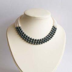 Ślubny naszyjnik z pereł Swarovski; Wedding necklace
